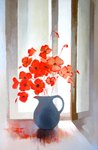 Coquelicots ll  54x81cm  -  2017  -  620€